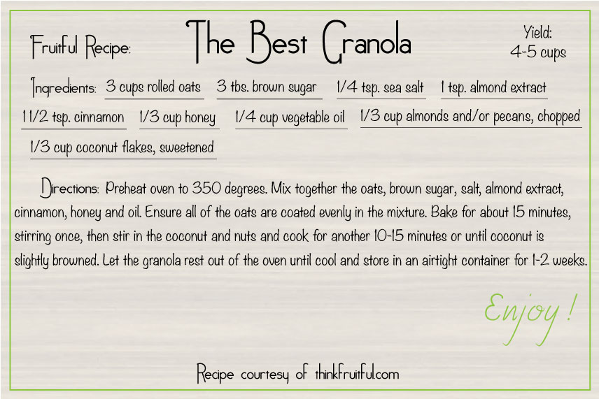 The Best Granola